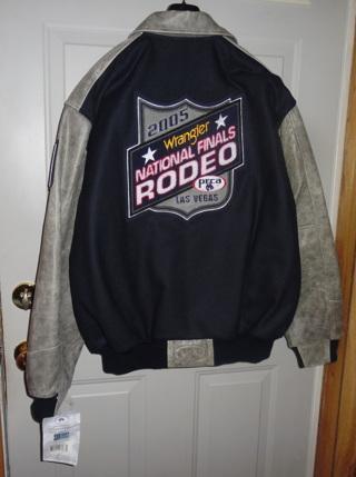 NWT's Wranger 2005 NRF PRCA Las Vegas Navy Blue Contestant Jacket Men's Large