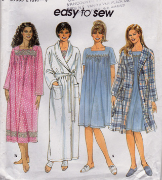 UNCUT Simplicity WOMEN S Nightgown   Robe EASY TO MAKE Sewing Pattern -  Size 18W-24W b863ae8bb9