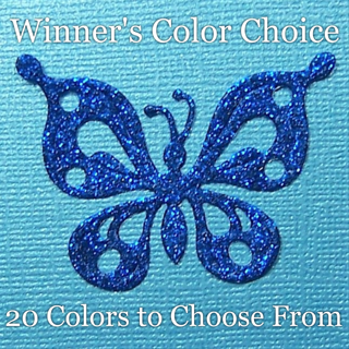 "Winner's Choice: 2"" Glitter Silk Petite Butterfly Die Cut"