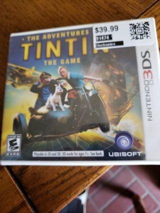 Sealed n3ds tin tin game
