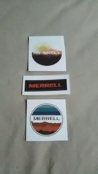 3 MERRELL OUTDOOR CO. VINYL DECALS