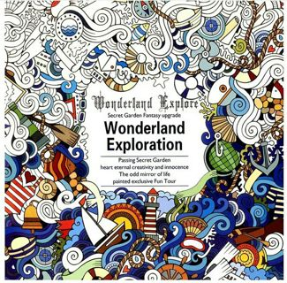 1 PCS 24 Pages English Version Wonderland Exploration Coloring Book