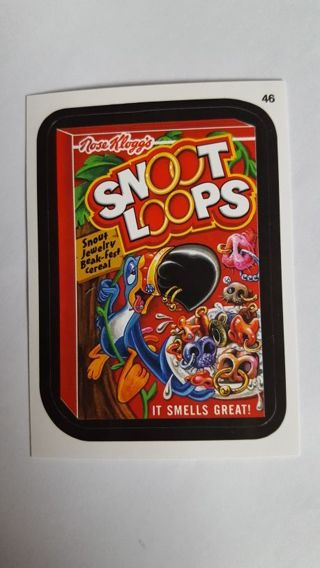 Special Last one! 2015 Topps Wacky Packages • Card #46 • Snoot Loops • See Pics