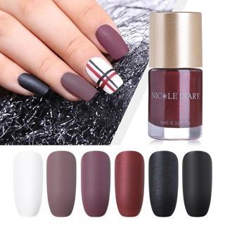 NICOLE DIARY 9ml Pashm Matte Series Nail Polish Nail Art Lacquer Varnish Quick Dry Polish 6 Colors