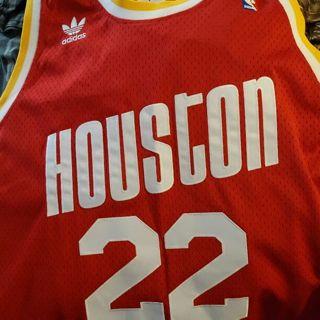 Brand New Houston Rockets Clyde Drexler 22 Jersey XL