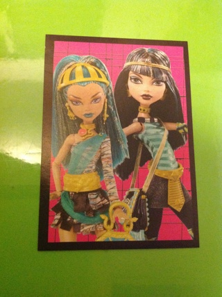Monster High PANINI Sticker #161 for the fearbook 2012