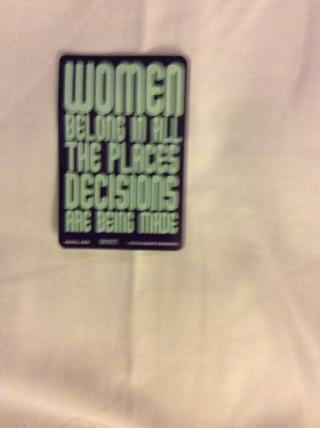 Women Belong In All Places Sticker