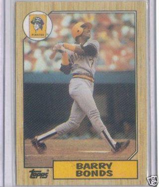 Barry Bonds rookie card 1987 topps