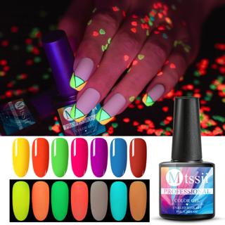 8ml Glow In Dark Fluorescent Neon Luminous Uv LED Soak Off Gel Varnish Lighting In Night