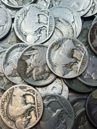 Buffalo Nickel date is worn