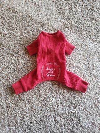 XS~ {Santas lil Helper} puppy pajamas ~ red