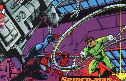 1994 Spider-Man: Collectible/Trade Card: Spider-Man vs Dr Octopus