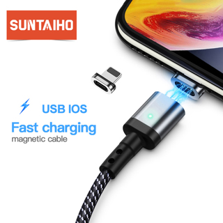 Suntaiho Magnetic Cable For iPhone XR XS Max X Quick Charger Cord Fast Data Cables For iPhone 8 7