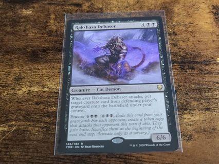 Magic the gathering mtg Rakshasa Debaser rare card Commander Legends