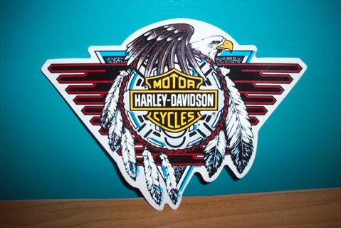 Free Rare Authentic Harley Davidson Native American Style