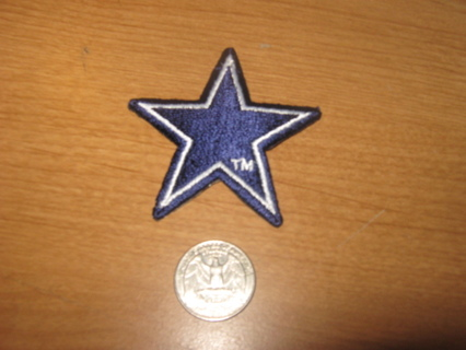 Dallas Cowboys Star Iron On Patch