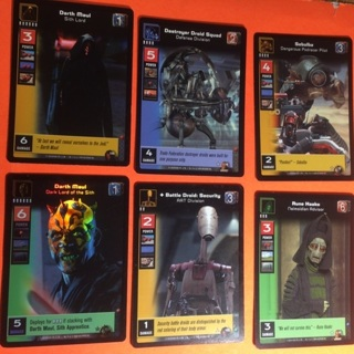 6 Young Jedi Star Wars 2000 Cards!
