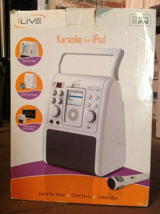 ILive Karaoke Machine for iPod CD Remote Control & Microphone