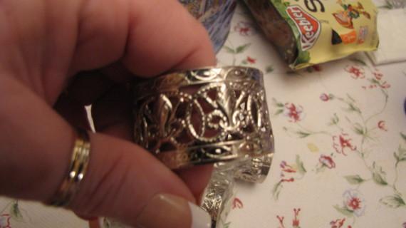 Silver Filigree Napkin Rings - New Set of 8