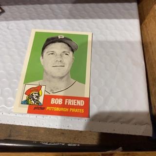 1953 topps archives Bob friend baseball card