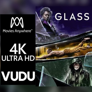 GLASS 4K MOVIES ANYWHERE OR VUDU CODE ONLY