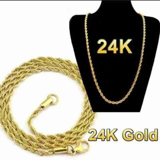 24k gold long necklace men's Necklace