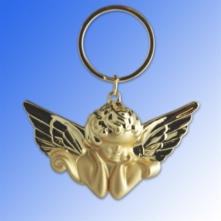 Angel keyring Large Two Tone Gold plated Key chain NWT