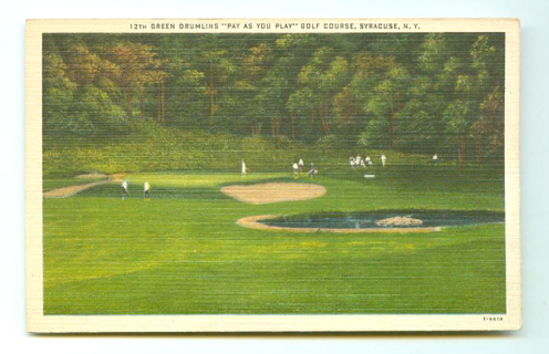 Vintage Postcard Of Golf Course Used To Request Sergeant's Dog Book Ephemera