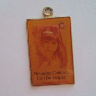 FREE US 10c Retarded Children Can Be Helped Stamp Charm