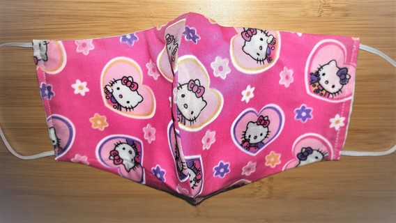 Hello Kitty Heart Pink Mask With Pouch for Filter