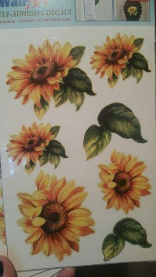 10 sheets.. self adhesive WALL DECALS!