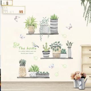garden plant bonsai flower butterfly wall stickers home decor living room kitchen pvc wall decals