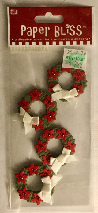 Paper Bliss Dimensional Wreath Accent Stickers