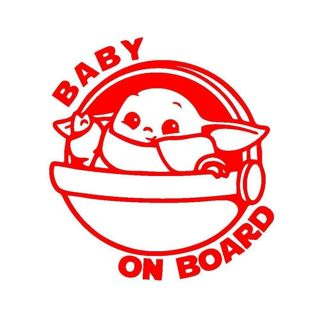 1pc. Baby Yoda Baby on Board Sticker