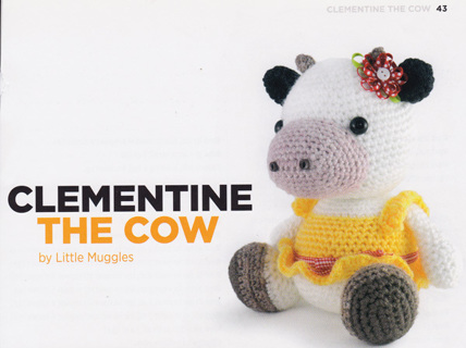 Free Clementine The Cow Toy Stuffed Animal Crochet Pattern