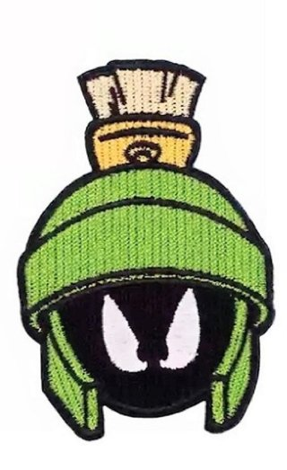 """Marvin The Martian Character Face 3 1/2"""" Tall Iron On"""