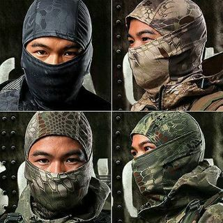 KAWAII CAMOUFLAGE ARMY CYCLING MOTORCYCLE CAP BALACLAVA HATS FULL FACE MASK