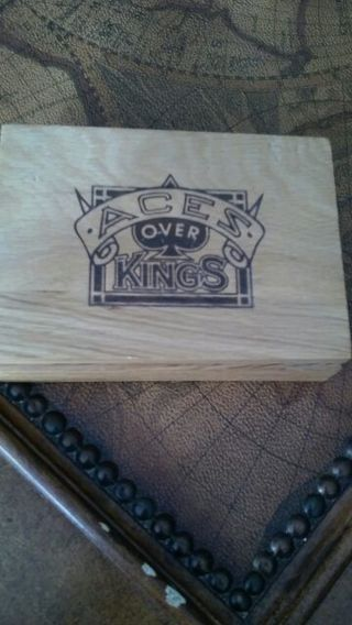 Ace over kings Antique playing cards