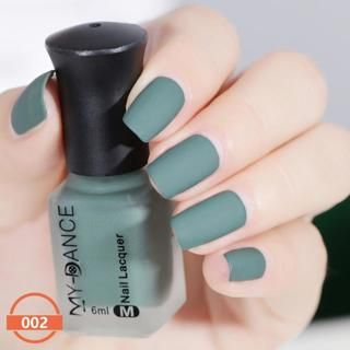 Learnever Matte Nail Polish Mirror Long Lasting Nail Art Varnish Dull 11 Colors 6ml quick dry Sati
