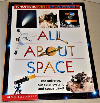 "1998 ""All About Space"" hardcover 77-page book"