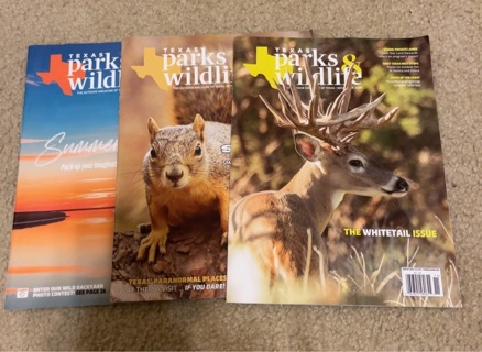3 Texas Parks & Wildlife Magazines