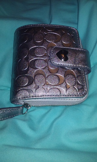 Brand new silver coach wallet