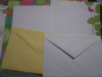 Decorative letter sheets and envelopes set No refunds! Good quality! Lowest gins around!