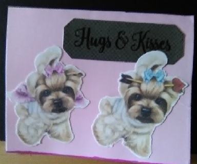 """ Hugs & Kisses "" Design Blank Card with Envelope"