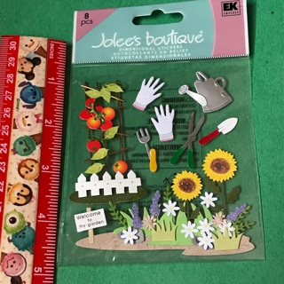 Jolees Boutique Gardening dimensional sticker sheet NEW