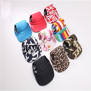 [GIN FOR FREE SHIPPING] Summer Cooling Pet Dog Caps With Ear Hole Outdoor Puppy Baseball
