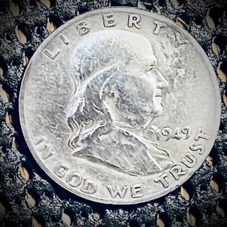 1949 d Franklin half dollar 90% silver better date