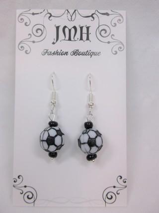 Soccer Mom - Soccer Fan Ball Earrings