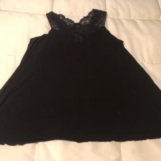 Women's Black Pajama Top Size Medium Made By Soma