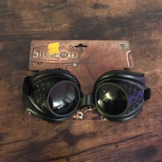 Steampunk black costume goggles